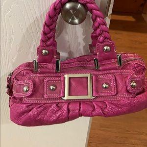 Black Rivet pink purse